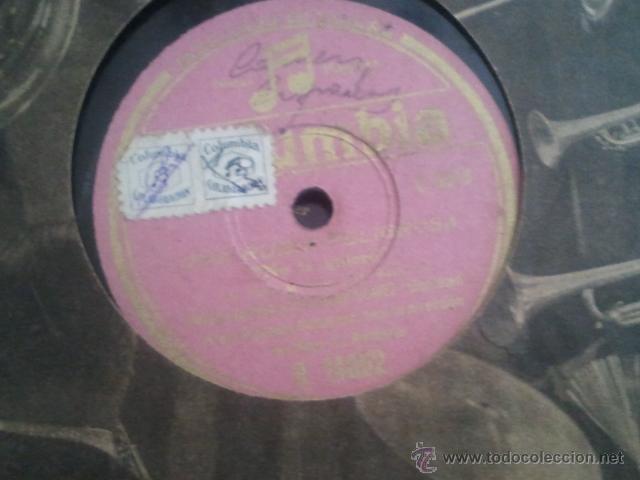 DISCO PIZARRA EMILIA ALIAGA UNA RUBIA PELIGROSA GRAN ORQUESTA COLUMBIA (Música - Discos - Pizarra - Flamenco, Canción española y Cuplé)
