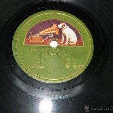 Discos de pizarra: 78 RPM, DISCO DE PIZARRA, PILAR GARCIA, LA HEROINA Y DIEGO CORRIENTE, DISCO GRAMOFONO AE 1855, BUEN . Lote 42341890
