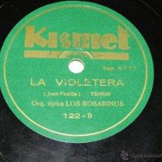 Discos de pizarra: DISCO DE PIZARRA EL RELICARIO (ORQUESTA LOS CASTIZOS) / LA VIOLETERA (ORQ. TIPICA LOS ROSARINOS), ED. Lote 42344292