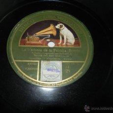 Discos de pizarra: DISCO DE PIZARRA LA VERBENA DE LA PALOMA, DISCO GRAMOFONO, AF 25, GRANDE. Lote 42344489