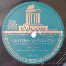 Discos de pizarra: (PAIS VASCO) JESUS GOIRI - ZAPATEROS AMBULANTES / LA DEL PAÑUELO ROJO. Lote 42569599