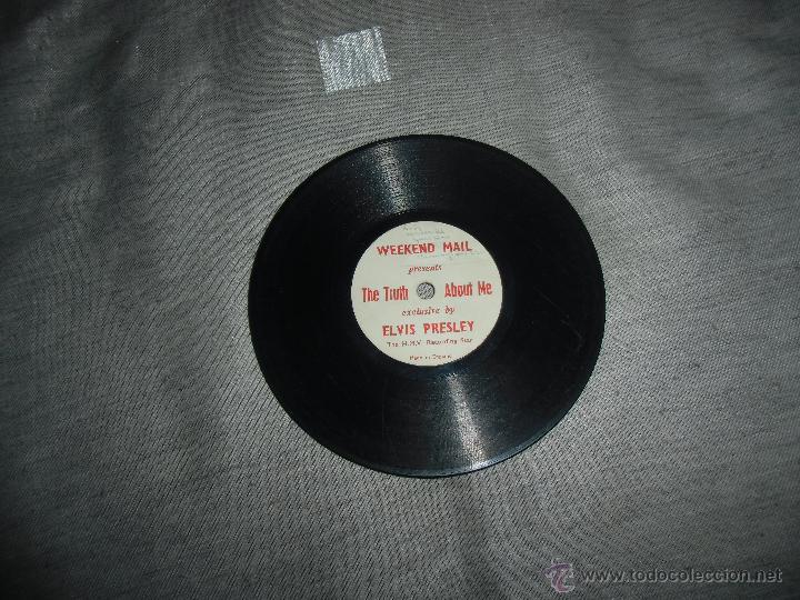 RAREZA DISCO ELVIS PRESLEY,MONOFACIAL,MUY PEQUEÑO (Música - Discos - Pizarra - Solistas Melódicos y Bailables)