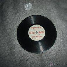 Discos de pizarra: RAREZA DISCO ELVIS PRESLEY,MONOFACIAL,MUY PEQUEÑO. Lote 42671232