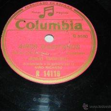 Discos de pizarra: DISCO DE PIZARRA DE FLAMENCO. JUANITO VALDERRAMA, ACOMPAÑADO A LA GUITARRA POR EL NIÑO RICARDO, COLU. Lote 43005496