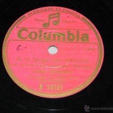 Discos de pizarra: DISCO DE PIZARRA. JUANITO VALDERRAMA ACOMPAÑADO A LA GUITARRA POR NIÑO RICARDO, COLUMBIA R 14101, A . Lote 43006141