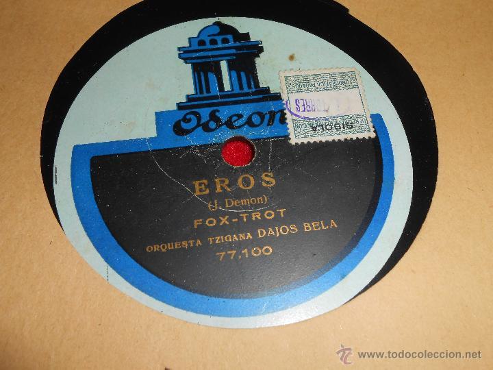 ORQUESTA TZIGANA DAJOS BELA EL DICTADOR / EROS ODEON 77099 JAZZ ESPAÑA SPAIN 12 PULGADAS (Música - Discos - Pizarra - Jazz, Blues, R&B, Soul y Gospel)