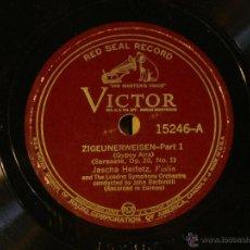 Discos de pizarra: JASCHA HEIFETZ - PABLO DE SARASATE: ZIGEUNERWIESSEN PART 1 Y 2 (GIPSY AIRS) -VICTOR 15246 (RED SEAL). Lote 43192760