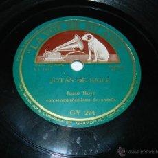 Discos de pizarra: DISCO DE PIZARRA DE JUSTO ROYO CON RONDALLA CANDELA - JOTAS ARAGONESAS - JOTAS DE BAILE / JOTAS PARA. Lote 43356334