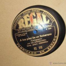 Discos de pizarra: EL AMERICANO DISCO DE PIZARRA. Lote 43381466