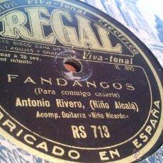Discos de pizarra: DISCO DE ANTONIO RIVERO NIÑO ALCALA REGAL RS 713 YO MIS PENAS LE CONTE PARA CONMIGO CASARTE ACOMP. Lote 43459491