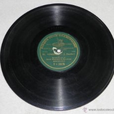 Discos de pizarra: DISCO DE PIZARRA EL SOMBRERO, POR (J.ESCALAS). BANDA MUNICIPAL DE BARCELONA. DISQUE POUR GRAMOPHONE.. Lote 43468201