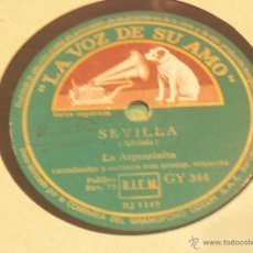 Discos de pizarra: LA ARGENTINITA DISCO DE PIZARRA. Lote 43498323