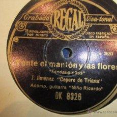 Discos de pizarra: FLAMENCO JOSE CEPERO DE TRIANA. Lote 43593036