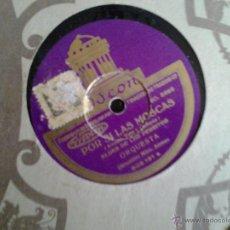 Discos de pizarra: ANTIGUO DISCO DE GRAMOFONO, CELIA GAMEZ, POR SI LAS MOSCAS.. Lote 43663569