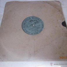 Discos de pizarra: DISCO PIZARRA - UNGARISCHER TANZ NO.5 VON BRHAHMS - HOMOPHON RECORD. Lote 43687577