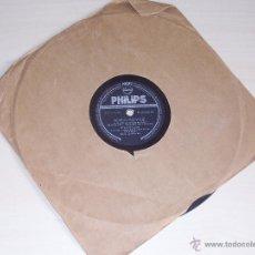 Discos de pizarra: DISCO PIZARRA PHILIPS. SOPLO SALVAJE, RESPÓNDEME. FRANKIE LAINE Y PAUL WESTON.. Lote 43697424