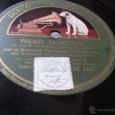 Shellac Records - PRENDE SALGUEIRIÑO. ROMANCE DE DOÑA ALDA. por la Sociedad Polifónica de Pontevedra (Galicia) Disco - 43880871