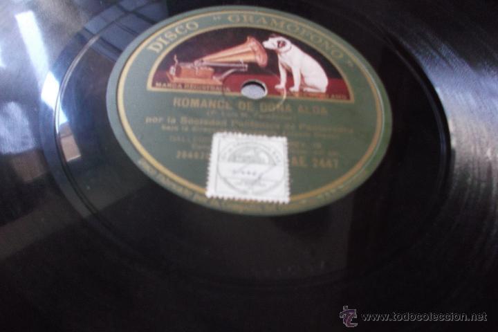 Discos de pizarra: PRENDE SALGUEIRIÑO. ROMANCE DE DOÑA ALDA. por la Sociedad Polifónica de Pontevedra (Galicia) Disco - Foto 2 - 43880871