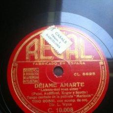 Discos de pizarra: DISCO PIZARRA DEJAME AMARTE - TCHI,TCHI - VALS Y TANGO CANTADOS DE LA PELICULA MARINELA -. Lote 43887163