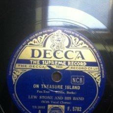 Discos de pizarra: DISCO PIZARRA ON TREASURE ISLAND - SWEET DREAMS SWEETHEART - LEW STONE AND HIS BAND -. Lote 43887174