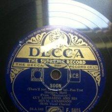 Discos de pizarra: DISCO PIZARRA SOON - IT`S EASY TO REMEMBER - GUY LOMBARDO AND HIS ROYAL CANADIANS - DECCA -. Lote 43887220