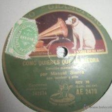 Discos de pizarra: CANCIÓN MONTAÑESA, MANUEL SIERRA. Lote 43988952