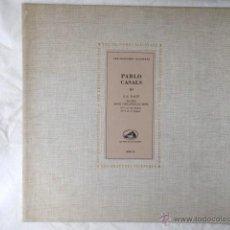 Discos de pizarra: DISCO DE PIZARRA LA VOIX DE SON MAITRE. PABLO CASALS.. Lote 44130809