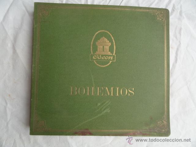 ALBUM DISCOS DE PIZARRA ODEON. BOHEMIOS. (Música - Discos - Pizarra - Clásica, Ópera, Zarzuela y Marchas)