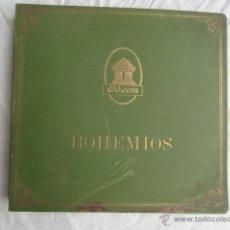 Discos de pizarra: ALBUM DISCOS DE PIZARRA ODEON. BOHEMIOS.. Lote 44131225