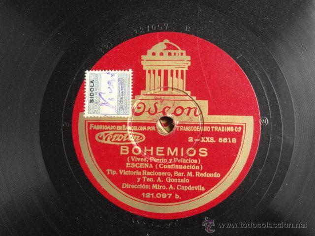Discos de pizarra: ALBUM DISCOS DE PIZARRA ODEON. BOHEMIOS. - Foto 8 - 44131225