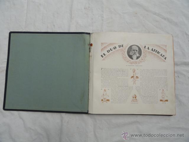 Discos de pizarra: ALBUM DISCOS DE PIZARRA ODEON. EL DÚO DE LA AFRICANA. - Foto 2 - 44131421