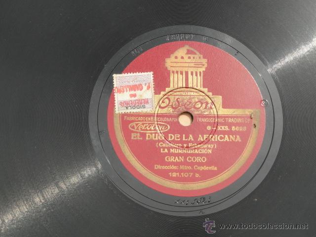 Discos de pizarra: ALBUM DISCOS DE PIZARRA ODEON. EL DÚO DE LA AFRICANA. - Foto 9 - 44131421