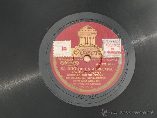 Discos de pizarra: ALBUM DISCOS DE PIZARRA ODEON. EL DÚO DE LA AFRICANA. - Foto 10 - 44131421