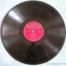 Discos de pizarra: DISCO 78 RPM PIZARRA - EDGAR PALM DESDE CURACAO - PRINCESITA. AIRE ARDIENTE.. Lote 44262152