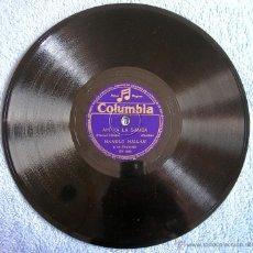 Discos de pizarra: DISCO 78 RPM PIZARRA - MANOLO MILLAN Y SU ORQUESTA - AHI VA LA SAMBA. VOLANDO VOY A RIO (SAMBAS). Lote 44300349