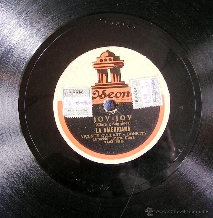 Discos de pizarra: DISCO 78 RPM PIZARRA - JOY-JOY TEATRO COMICO, DE BARCELONA. VICENTE QUELART, AMALIA PALAU Y BONETTY. - Foto 5 - 44316763