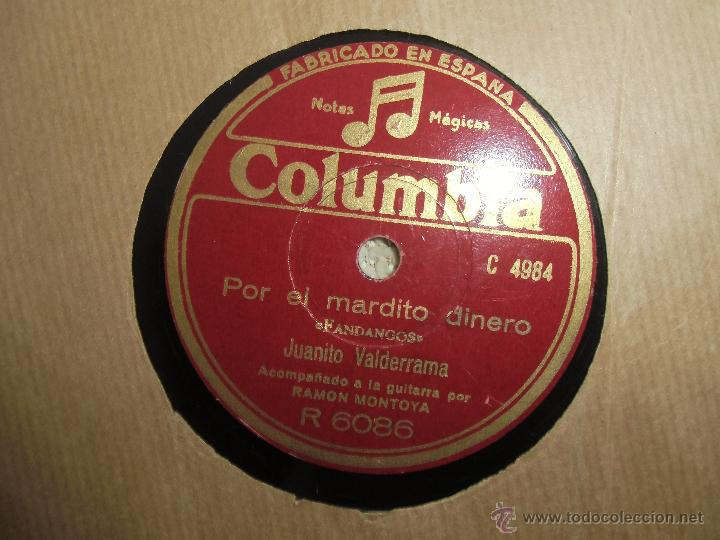 Discos de pizarra: flamenco, juanito valderrama, - Foto 2 - 44323310