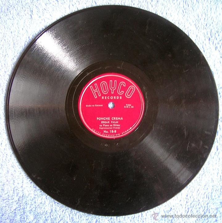 DISCO 78 RPM PIZARRA - EDGAR PALM DESDE CURACAO - PONCHE CREMA. BROE JON. (Música - Discos - Pizarra - Bandas Sonoras y Actores )