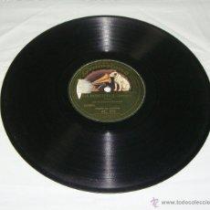 Discos de pizarra: DISCO GRAMOFONO DE PIZARRA. LA VOZ DE SU AMO. LA MONTERÍA - TANGO MILONGA.. Lote 44334320