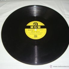 Discos de pizarra: DISCO DE PIZARRA. M.G.M. NORO MORALES Y SILVANA MABGANO.. Lote 44335056
