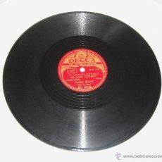 Discos de pizarra: DISCO DE PIZARRA. DECCA. ANTON KARAS. HARRY LIME - EL CAFE MOZART.. Lote 44335183