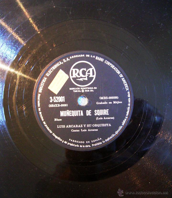 Discos de pizarra: DISCO 78 RPM PIZARRA - LUIS ALCARAZ Y SU ORQUESTA - MUÑEQUITA DE SQUIRE (BLUES). PRISIONERO DEL MAR. - Foto 3 - 44358196