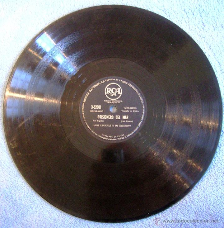 Discos de pizarra: DISCO 78 RPM PIZARRA - LUIS ALCARAZ Y SU ORQUESTA - MUÑEQUITA DE SQUIRE (BLUES). PRISIONERO DEL MAR. - Foto 4 - 44358196