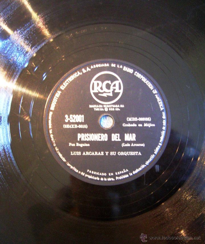 Discos de pizarra: DISCO 78 RPM PIZARRA - LUIS ALCARAZ Y SU ORQUESTA - MUÑEQUITA DE SQUIRE (BLUES). PRISIONERO DEL MAR. - Foto 5 - 44358196