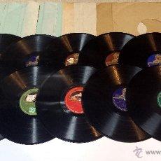 Discos de pizarra: LOTE 10 DISCOS PIZARRA +1 DE OBSEQUIO. MARCOS REDONDO, ANTONIO MACHIN, JORGE NEGRETE, ETC. VER. Lote 44666432