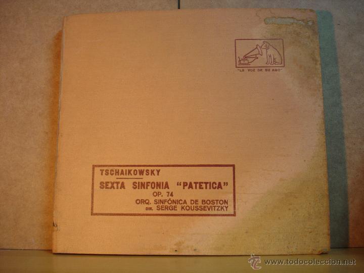 TSCHAIKOWSKY - SEXTA SIMFONIA - PATETICA - OPUS 74 - LA VOZ DE SU AMO -ALBUM CON 5 DISCOS DE PIZARRA (Música - Discos - Pizarra - Clásica, Ópera, Zarzuela y Marchas)
