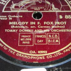 Discos de pizarra: TOMMY DORSEY & HIS ORCHESTRA ( LIEBESTRAUM - MELODY IN F. ) ENGLAND HMV. Lote 44859953