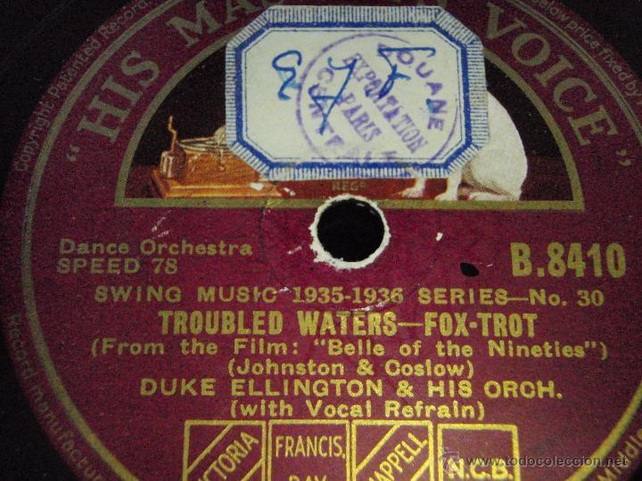 DUKE ELLINGTON & HIS ORCHESTRA ( SOLITUDE - TROUBLED WATERS ) SWING MUSIC 1935-1936 HMV (Música - Discos - Pizarra - Jazz, Blues, R&B, Soul y Gospel)