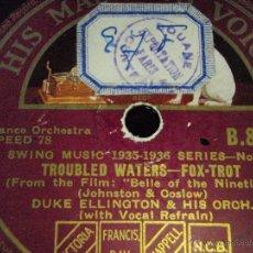 Dischi in gommalacca: DUKE ELLINGTON & HIS ORCHESTRA ( SOLITUDE - TROUBLED WATERS ) SWING MUSIC 1935-1936 HMV. Lote 44887230