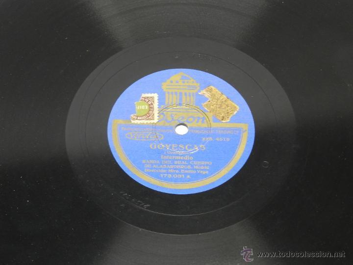 DISCO DE PIZARRA RONDALLA ARAGONESA / GOYESCAS, BANDA DEL REAL CUERPO DE ALABARDEROS, MADRID, 173031 (Música - Discos - Pizarra - Jazz, Blues, R&B, Soul y Gospel)